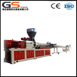 PET Bottle Flakes Plastic Recycling Extruder With Twin Screw Granules Making Machine