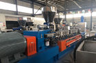 China Pet Recycle Plastic Pelletizing Machine Air Cooling 300 Kg / H Twin Screw Extruder company