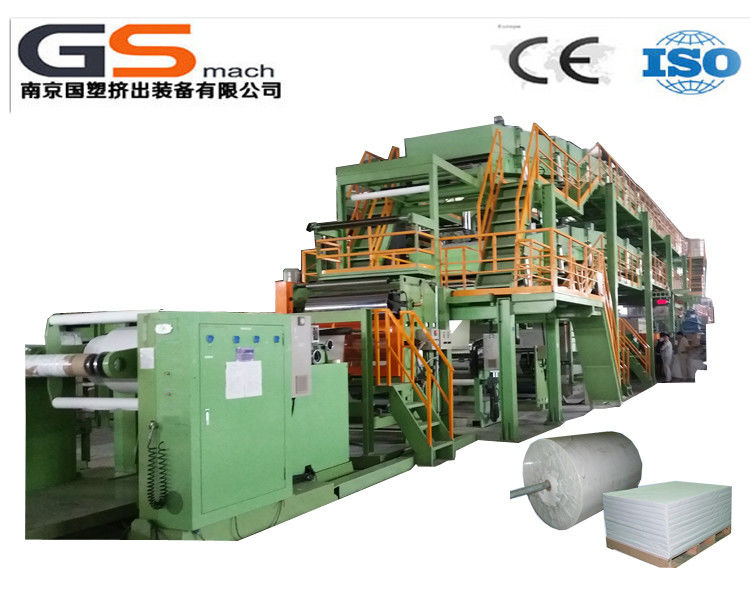Single Screw Extruder Stone Paper Production Line For Wall Paper Folding Resistant